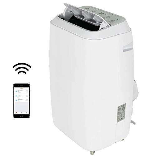ZYFWBDZ Aire Acondicionado portátil WiFi con aplicación de 12000 BTU con Bomba de Calor para Habitaciones de hasta 30 m2 con Funciones de refrigeración, calefacción y deshumidificación