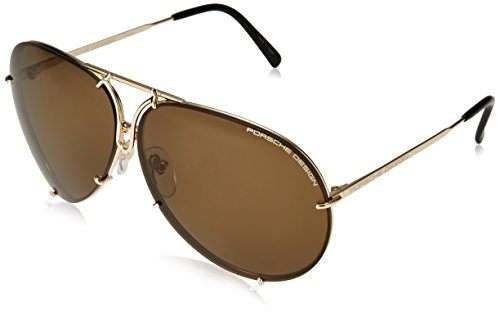 Porsche Design Sunglasses P8478, Gold, 69mm