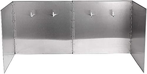 Paraschizzi Cucina Paraspruzzi Cucina Paraspruzzi d'olio, blocco paraspruzzi pieghevole in acciaio inossidabile per padella da cucina per cappa da cucina Coperchi antischizzo lpzsmd612(Size:80*40*48cm