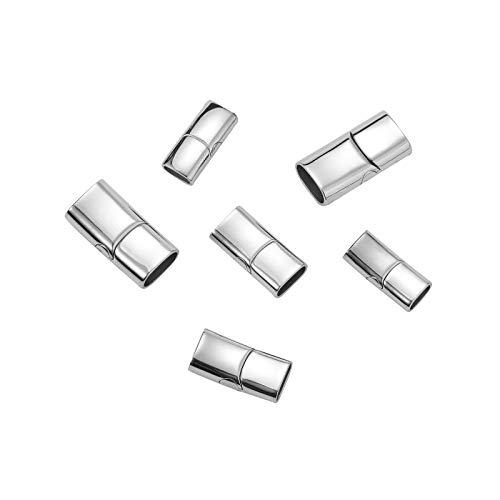 Stiesy 6 unids/caja 316 pulsera magnética de acero inoxidable cierre y cierre convertidor para pulsera de cuero joyería fabricación