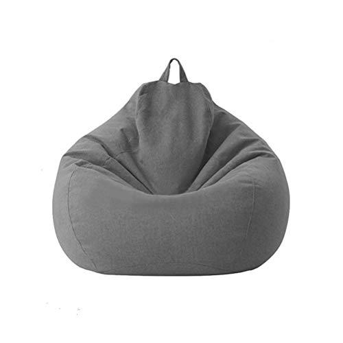 Aiglen Große kleine Faule Sofas Decken Stühle ohne Füllstoff Leinen Stoff Liegesitz Sitzsack Couch Tatami Wohnzimmer (Color : Dark Grey, Size : 70x80cm)