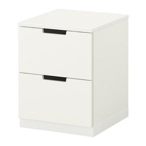 Ikea NORDLI–Kommode 2Schubladen, Weiß–40x 52cm