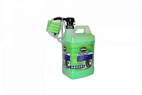 Liquide anti-crevaison preventif Slime pour pneu tubeless avec pompe doseuse - 3,8L