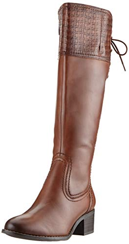 Tamaris Damen 1-1-25543-23 Hohe Stiefel, Braun (Cognac Croco 333), 38 EU