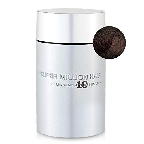 Super Million Hair Haar Fasern und Schütthaar, hochwertiges Streuhaar zur Haarverdichtung, 25 g, Medium-Brown (23)