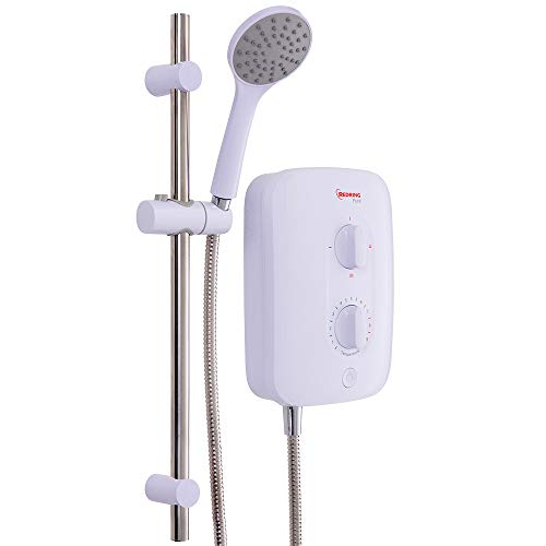 REDRING SUPPLIED BY THE LAMP POST REDRING Pure 8.5KW-9.5KW-10.5KW INSTANTANEOUS Electric Shower, White, RPS7 7.5KW 53531301