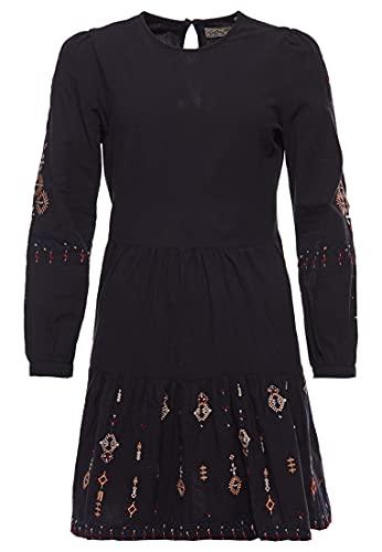 Superdry Womens Anisa EMB Casual Dress, Black Multi, M (Herstellergröße:12)