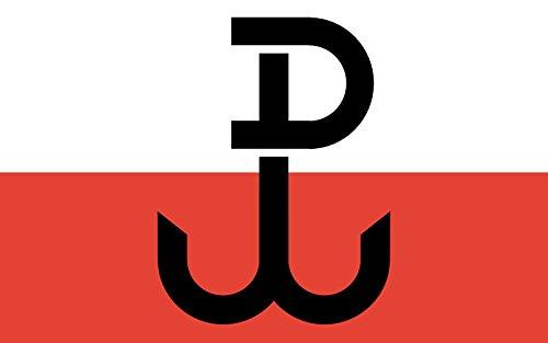 magFlags Flagge: Large PPP | Armia Krajowa; The Symbol on The Flag Called Kotwica is a Combination of Letters P and W Polska Walcz?ca | Armii Krajowej; Symbol NA fladze jest z?o?eniem Liter