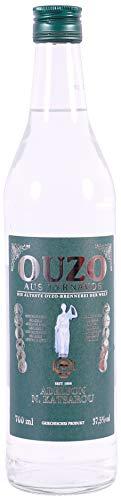 OUZO Tirnavos green 0,7l Flasche 37,5% | Aus der ältesten Ouzo Destillerie der Welt | Katsaros Distillery seit 1856 | Milder Ouzo (0,7l)