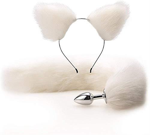 F  X Banda para el Cabello de la Oreja Bütt Plus Tail Fox Plùg Báckcourt Entrenador Dilatôr DIEJA DIEJA MISPUSA Cosplay S  XY A  Últimos Accesorios Mujeres para Hombres par