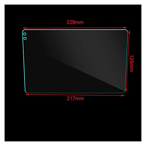 ZIHAN Feil Store Pegatina Protectora de Cristal Templado de Coche Fit para Teyes CC2 9 Pulgadas Coche Radio Multimedia Video Player Navegación GPS Android 8.1 (Color Name : Transparent)