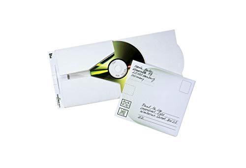 Durable 521102 CD/DVD Versandtasche Mail (für 1 CD) Packung à 5 Stück weiß