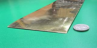 1 Pc. Length 260 Brass Sheet.006 Thick x 1.00 Width x 50 Ft