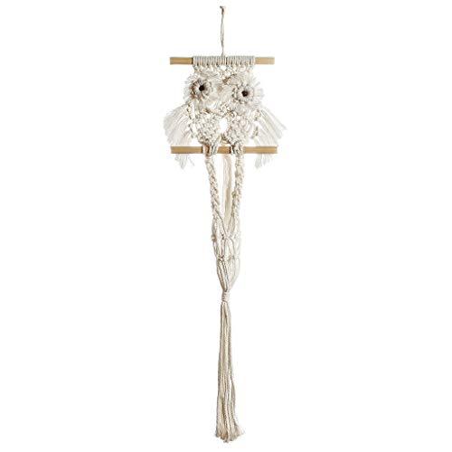 huiingwen Tapiz de macramé, diseño de búho, para colgar en interiores, para decoración de jardín o casa