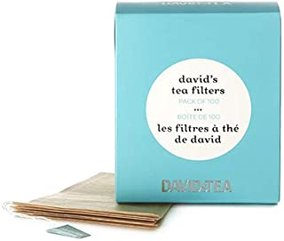 DAVIDsTEA Tea Filters, Drawstring Teabags for Loose Leaf Tea, OXO-Biodegradable, Pack of 100