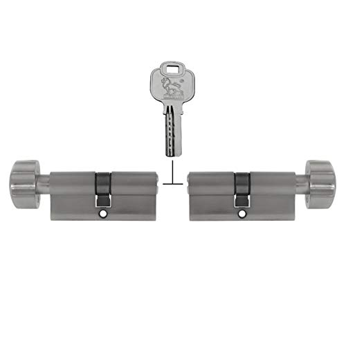 2x Knaufzylinder gleichschließend KD 70 mm 35/35 (mit Not- und Gefahrenfunktion) inkl. 5x Schlüssel