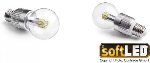 SoftLED Glühbirne | E27 | klar | 360° | 9 Watt | warmweiß