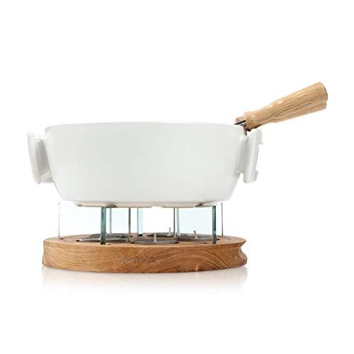 Boska Candlelight Fondue Twinkle - Set de fondue con velas - Apto para la microonda - Blanco - 1.6 L