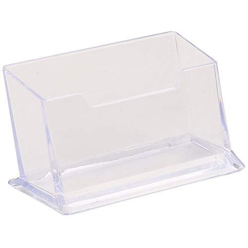 Nihlsen Caja de tarjeta de visita de plástico transparente Suministros de oficina titular de