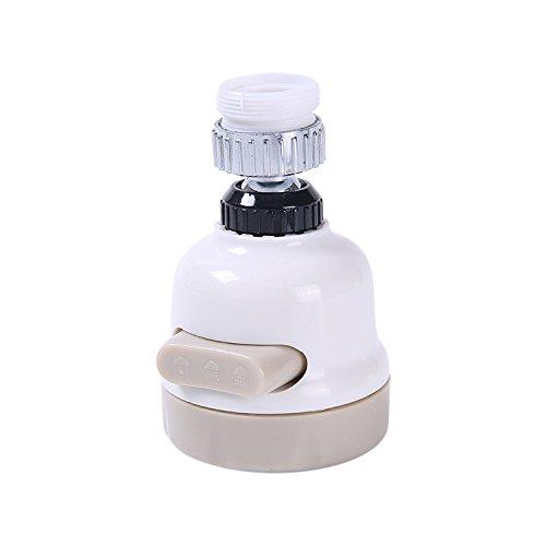 SIWEI Wasserhahn-Strahlregler, 360° schwenkbar, spritzwassergeschützter Wasserhahn, Wasserspar Wasserhahn Düse für Küche, Bad