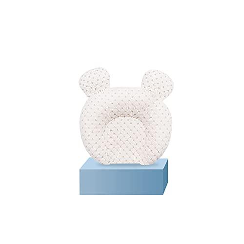 Ycsax Almohada para Modelar La Cabeza del Bebé, Reposacabezas Suave Y Transpirable para Bebés Recién Nacidos, para Dar Forma a La Cabeza, Almohada Ergonómica De Látex Natural para Niños Pequeños,A