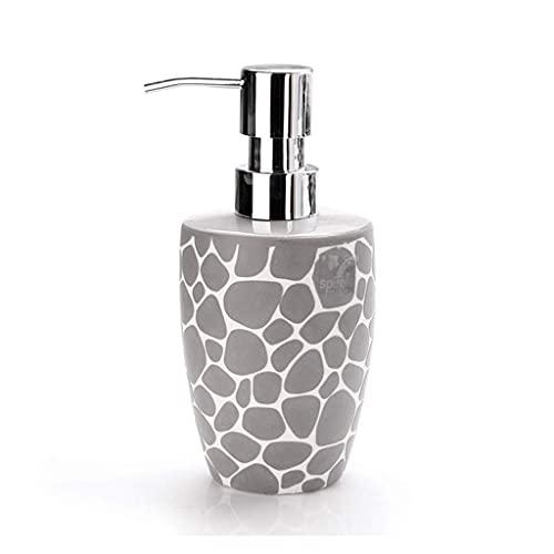 Dispensador de loción Reutilizable Dispensador de jabón Botella de loción con Bomba de loción Botella de jabón de cerámica para Restaurante, baño o Cocina Bomba de jabón cilíndrica (Color: Negro * 2