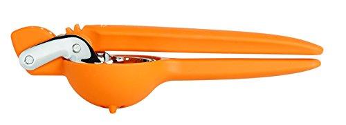 Chef\'n Orangenpresse FreshForce, manuelle Saftpresse, Handpresse, Orangenentsafter, zum leichten Auspressen von Orangen (Farbe: Orange/Silber), Menge: 1 Stück