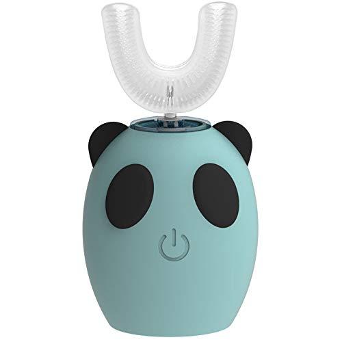 Cepillo de dientes eléctrico ultrasónico automático para niños, en forma de U,...