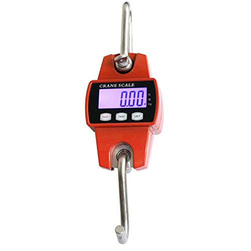 Wangkangyi Crane Scales Digital Luggage Scales Luggage Scales Kitchen Scales 3 Weighing Units Two Piece Value (300 kg / 100 g, Orange)