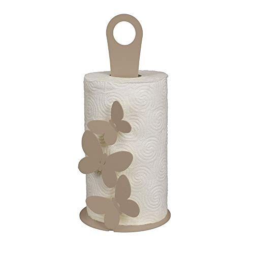 Porta scottex rotolo carta cucina BUTTERFLY FARFALLE Sabbia Beige I Love Arti & Mestieri