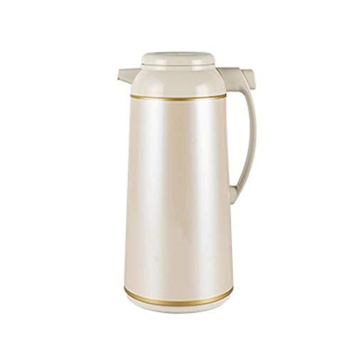 FYCZ Isolationstopf,Vakuumtopf doppelwandig vakuumisoliert kaffeekanne Isolierkanne mit großer kapazität thermoskanne thermoskanne geeignet für saft/Milch/Tee (Farbe : Beige, größe : 1.55L)