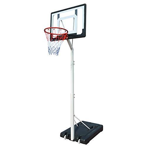 Tragbare Basketballbretter Indoor Jugend Kinder Basketball Stand Heim Außen Movable Basketball Ständer Basketballbretter (Color : Black, Size : 2.10-2.60m)