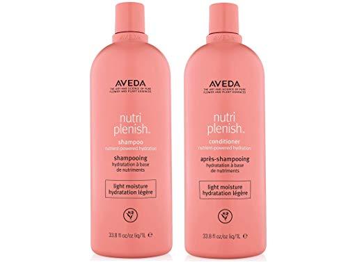 Aveda Nutriplenish Light Moisture Shampoo and Conditioner 33.8 oz Liter Duo