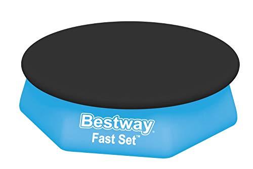 Bestway 58032 Bâche 4 saisons pour piscine hors sol Fast Set™ ronde diamètre 244 cm