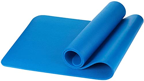 LSLS Esterilla De Yoga Mat de Yoga Antideslizante para Ejercicio, Gimnasio, Pilates, Fitness y Entrenamiento con Correa de Transporte Gratuito Esterilla Fitness (Color : Blue, Size : 183x61x1cm)