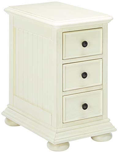 Pulaski Coastal Chairside White Accent Chest Cabinet