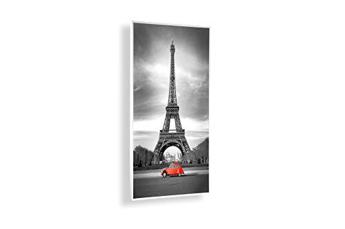 Könighaus Bildheizung (Infrarotheizung) 5 Jahre Garantie (Eiffelturm & roter Käfer) - inkl. Thermostat - 130