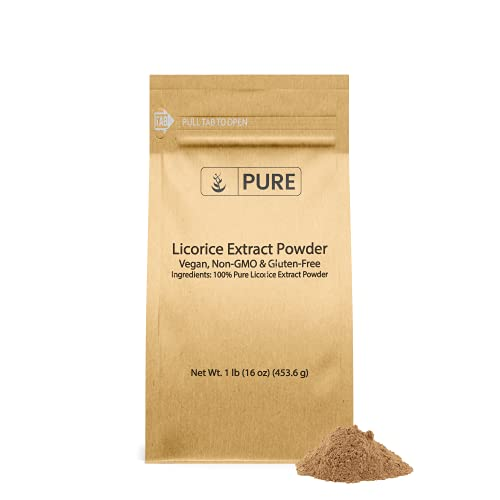 Pure Licorice Root Extract Powder (1 lb) Non-GMO & Gluten-Free, Filler-Free, Vegan, Made in USA, Eco-Friendly Packaging