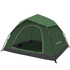 Osaloe Tente de Camping pour 2-4 Personnes, Tente Dôme Etanche et Durable pour Randonnée, Camping en Plein Air, Trekking…