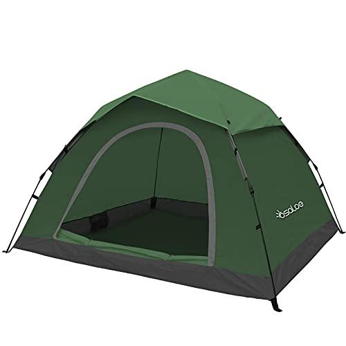 Osaloe Tenda da Campeggio, 2-4 Persone Tenda da Campeggio Istantanee Tenda Antivento Impermeabile per Escursionismo, Campeggio All'aperto, Trekking, Spiaggia, Picnic, Giardino, Viaggi, Pesca (Verde)