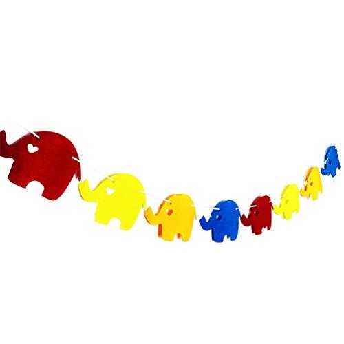 Amosfun olifant slinger decoraties schattig dier opknoping Bunting Banner Vlag Verjaardag partij benodigdheden fotografie Prop
