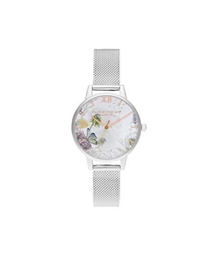 Olivia Burton Damen Analog Quarz Uhr mit Edelstahl Armband OB16SG03
