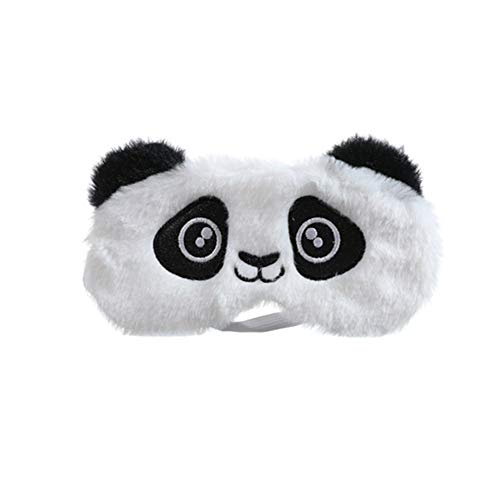 Dodheah Schlafmaske Kinder Frauen Mädchen Augenmaske 3D Süße Einhorn Plüsch Schlafmasken für Reisen Nickerchen Nacht Weißer Panda