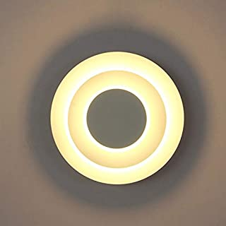 CloverGorge Beautiful Revolving Wall Lamp Led Solar Eclipse Light Bedside Light, Warm White