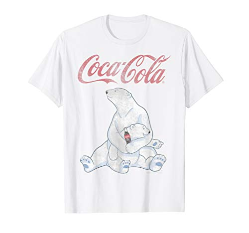 Coca-Cola Vintage Faded Pair Of Polar Bears Graphic T-Shirt