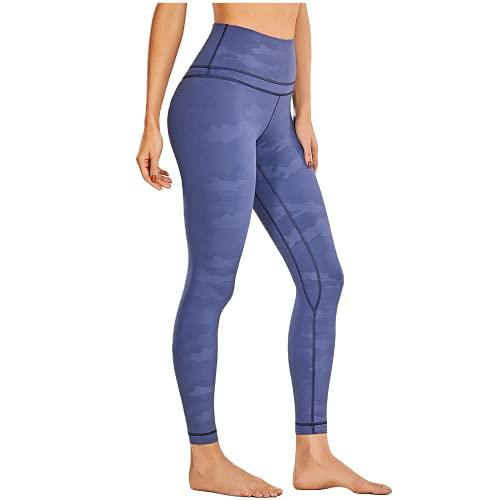 QTJY Pantalones de Yoga de Bolsillo para Mujer, Cintura Alta, Caderas, Mallas de Abdomen, Ejercicios de flexión, Pantalones Deportivos para Celulitis B XL