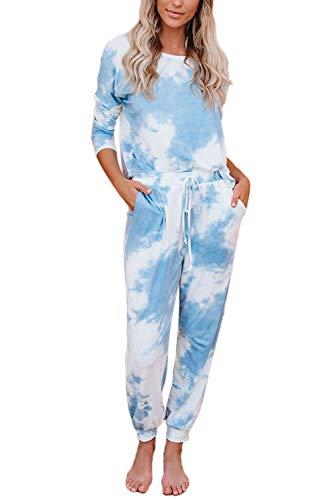 Women 2 Piece Loungewear Set Tra...