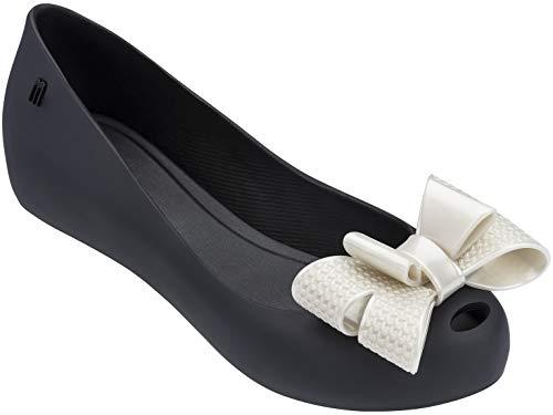 Melissa Shoes Ultragirl Sweet XV Black/White Metal 9 M