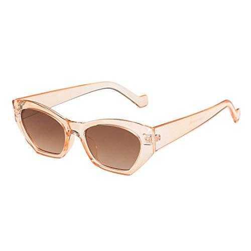 U/N Gafas de Sol Irregulares de Moda para Mujer, Gafas de Sol Vintage Transparentes de Color Caramelo para Hombre, Gafas de Sol poligonales de Tendencia, Sombras-5