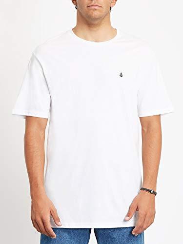 Volcom Stone Blanks BSC SS - Camiseta para Hombre, Hombre, Camiseta, A3512056, Blanco, Small
